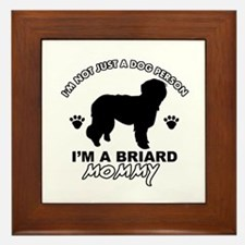 Briard Mommy Framed Tile