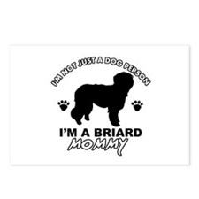 Briard Mommy Postcards (Package of 8)