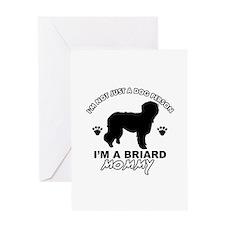 Briard Mommy Greeting Card