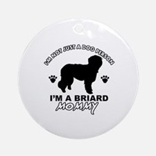 Briard Mommy Ornament (Round)