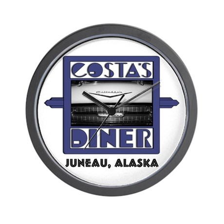 Costa's Diner Official Logo Wall Clock