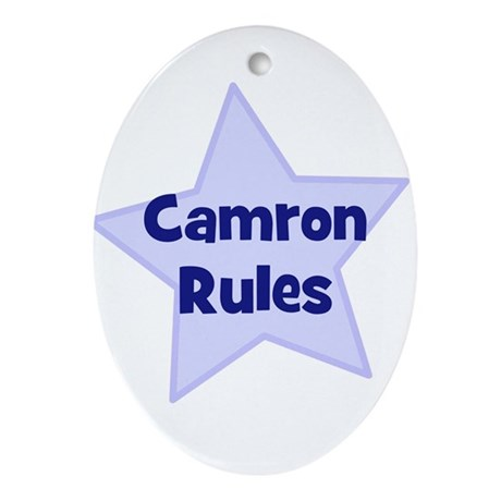 Camron Rules Oval Ornament
