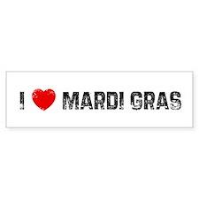 I * Mardi Gras Bumper Bumper Sticker