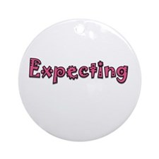 Expecting Ornament (Round)