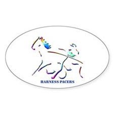 Harness Pacers Oval Decal