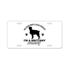 Brittany Mommy Aluminum License Plate