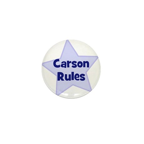 Carson Rules Mini Button