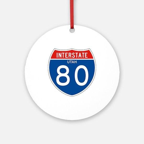Interstate UT - 80 Ornament (Round)