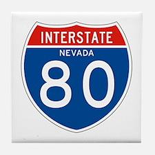 Interstate 80 - NV Tile Coaster