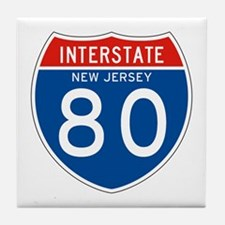 Interstate 80 - NJ Tile Coaster