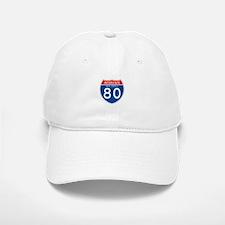 Interstate 80 - NJ Baseball Baseball Cap