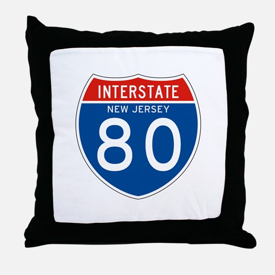 Interstate 80 - NJ Throw Pillow
