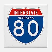 Interstate 80 - NE Tile Coaster