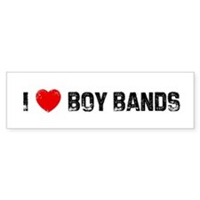 I * Boy Bands Bumper Bumper Sticker