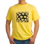 SKULL  ART DESIGN Yellow T-Shirt