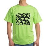 SKULL  ART DESIGN Green T-Shirt