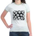 SKULL  ART DESIGN Jr. Ringer T-Shirt