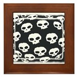 SKULL  ART DESIGN Framed Tile