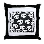 SKULL  ART DESIGN Throw Pillow