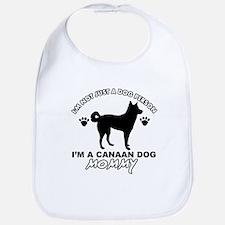 Canaan Dog Mommy Bib