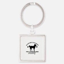 Canaan Dog Mommy Square Keychain