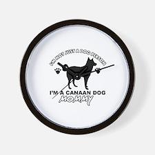 Canaan Dog Mommy Wall Clock