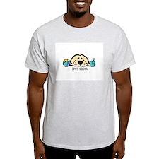 Life's Golden Beach Ash Grey T-Shirt