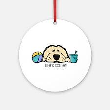 Life's Golden Beach Ornament (Round)