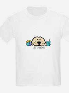 Life's Golden Beach Kids T-Shirt