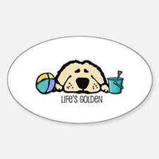 Life's Golden Beach Oval Stickers