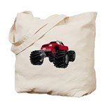 Shark driving a Monster Truck Tote Bag