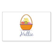 Easter Basket Hallie Decal