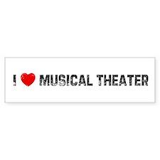 I * Musical Theater Bumper Car Sticker