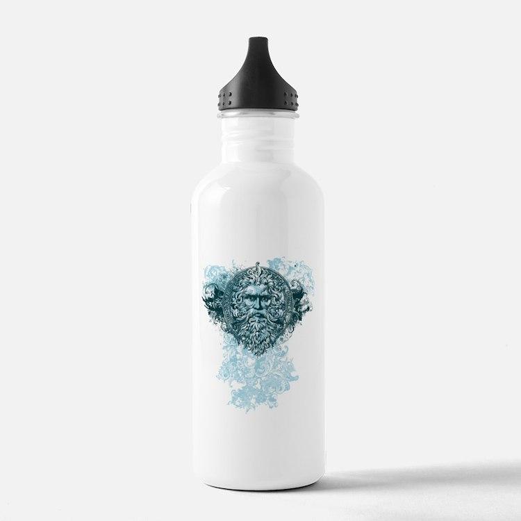 Poseidon King of the Sea Water Bottle