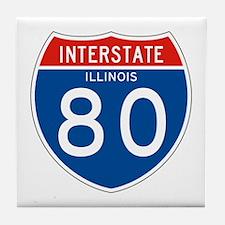 Interstate 80 - IL Tile Coaster