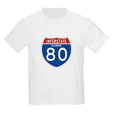Interstate 80 - IL Kids T-Shirt