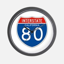 Interstate 80 - CA Wall Clock