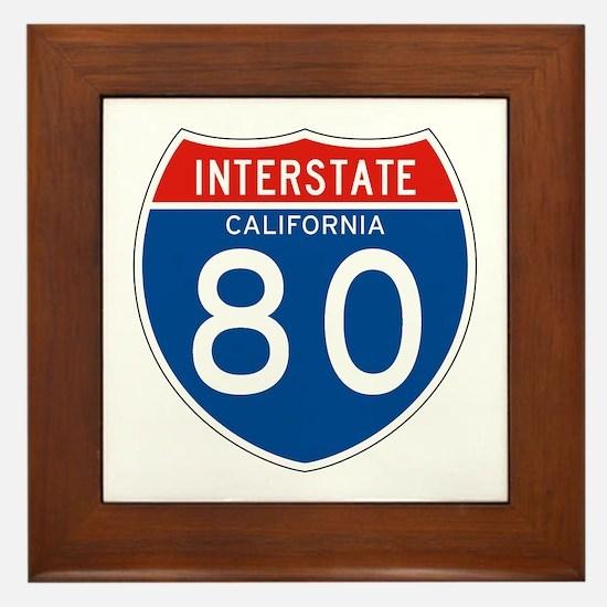 Interstate 80 - CA Framed Tile