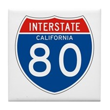 Interstate 80 - CA Tile Coaster