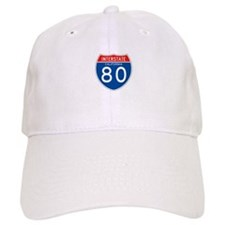 Interstate 80 - CA Baseball Baseball Cap