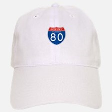 Interstate 80 - CA Baseball Baseball Cap