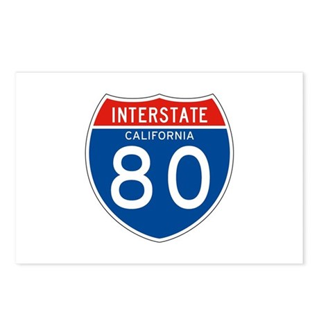 Interstate 80 - CA Postcards (Package of 8)