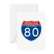 Interstate 80 - CA Greeting Cards (Pk of 10)