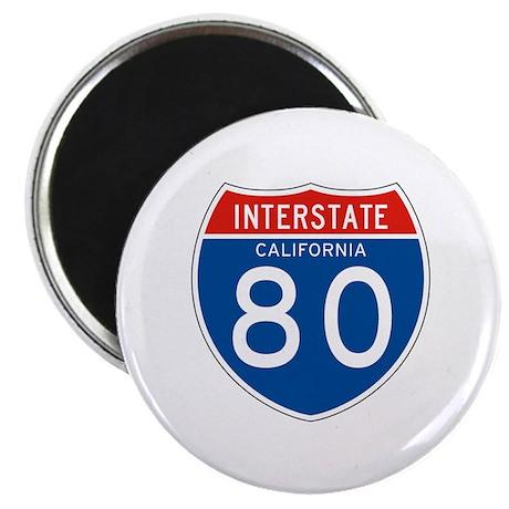 Interstate 80 - CA Magnet