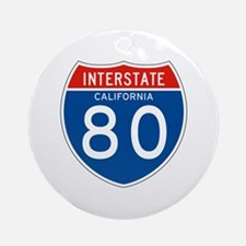 Interstate 80 - CA Ornament (Round)