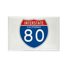 Interstate 80 - CA Rectangle Magnet