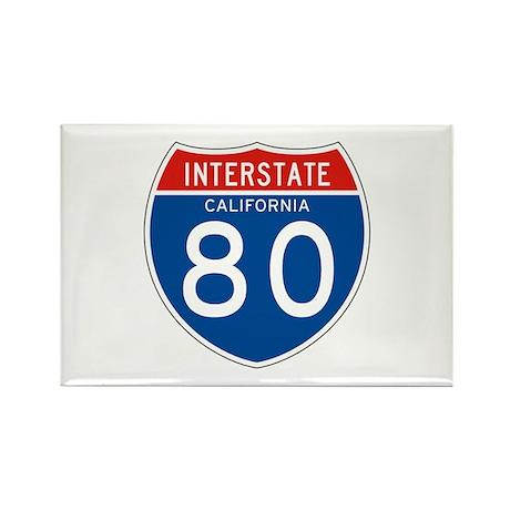 Interstate 80 - CA Rectangle Magnet