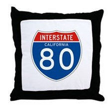 Interstate 80 - CA Throw Pillow