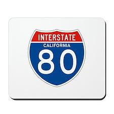 Interstate 80 - CA Mousepad