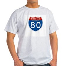 Interstate 80 - CA Ash Grey T-Shirt